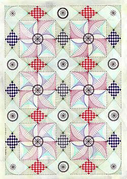 Sashed Pinwheels by Bev Donohoe