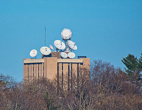 Satellite Dishes - Madison - Wisconsin by Steven Ralser