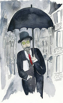 Satie Walking in the Rain by Claud Brown