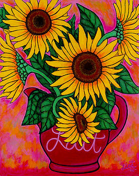 Saturday Morning Sunflowers by Lisa  Lorenz