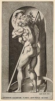 Giovanni Jacopo Caraglio - Saturn in a niche devouring his son