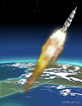SaturnV Liftoff by Joe Roselle