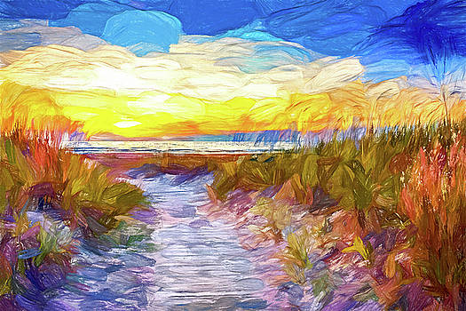 Sauble Beach - Dune Path - Paint by Steve Harrington