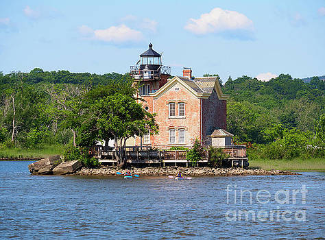 Saugerties Lighthouse on the Hudson River New York by Louise Heusinkveld