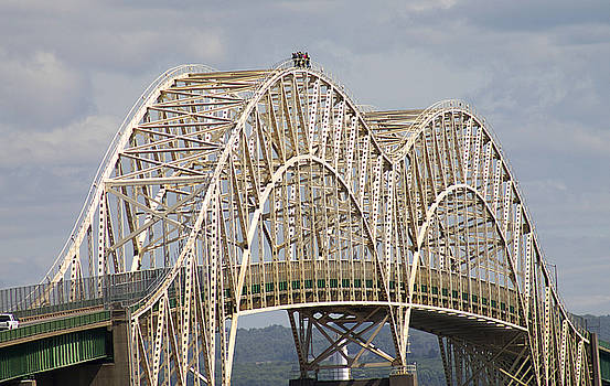 Sault Ste Marie International Bridge Arch by Danielle Allard
