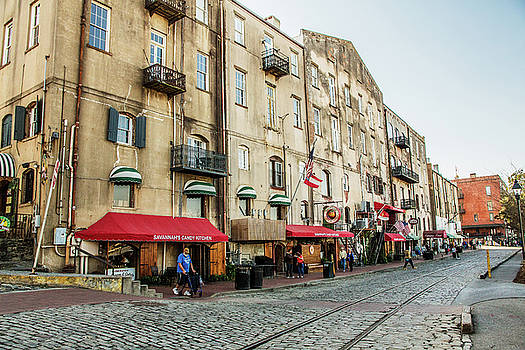 Savannah's Historic River Street by Carol Mellema