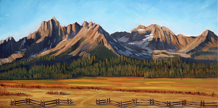 Sawtooth Mountains - Iron Creek by Kevin Hughes