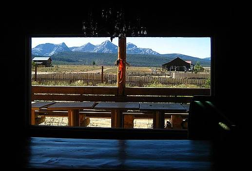 Sawtooth Ranch from Lodge Porch by Sherry Oliver