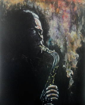 Sax Aflame by Otis  Cobb