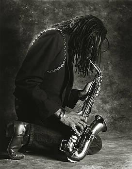 Sax Player 1 by Tony Cordoza