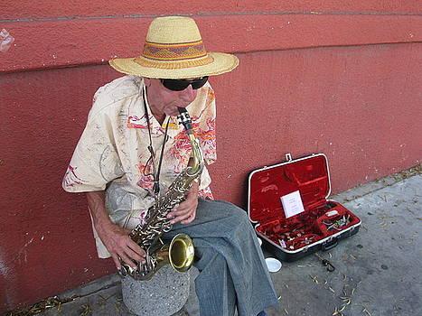 Sax Player by Chris Koval