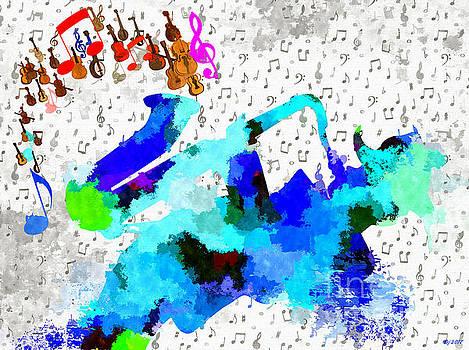 Sax Player by Daniel Janda