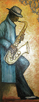 Sax Player by Judy Merrell