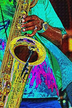 Saxman, playin' the blues by Bill Jonscher