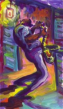 Saxophone Serenade by Saundra Bolen Samuel