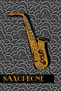 Saxophone  Swing by Cecely Bloom