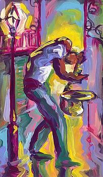 Saxophone Under the Balconies by Saundra Bolen Samuel