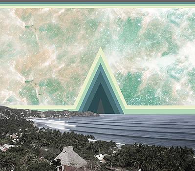 Sayulita Swell Green Pyramid  by Lori Menna