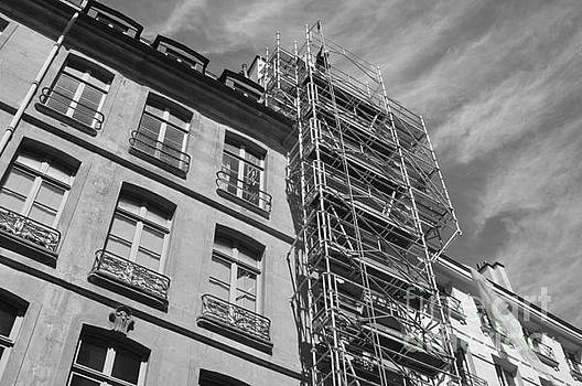 Scaffold and Sky by Andy Thompson