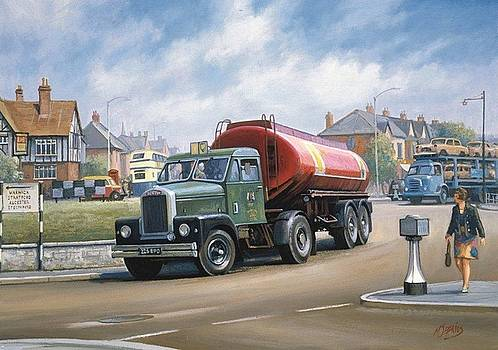 Scammell tanker. by Mike Jeffries
