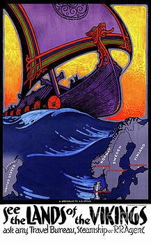 Scandinavia Vintage Travel Poster Restored by Carsten Reisinger