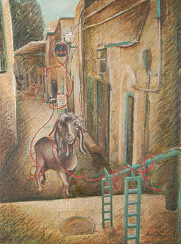 Scapegoat at Ben Yehuda Street by Barbara Nesin