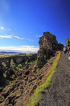 Scared earth at the Mid-Atlantic Rise in Thingvellir, Iceland by Allan Levin