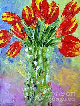Scarlet Tulips by Lynda Cookson
