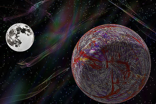 Barry Jones - Scarred Planet - Futuristic - Space Art