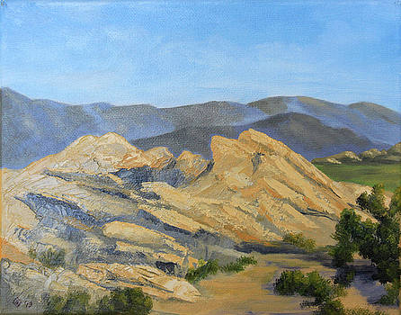 Scene at Vasquez Rocks by Terry Sonntag