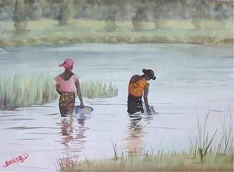 Scene D'afrique  Scene Of Africa by Dominique Serusier