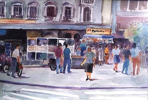Scene from Athens street by George Siaba