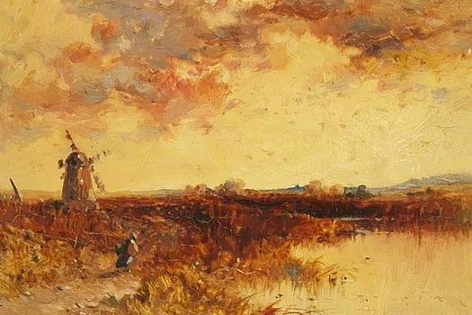 Webb James - Scene With A Windmill