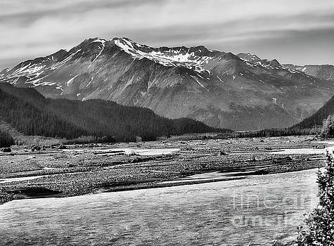 Scenic Alaska BW by Chuck Kuhn