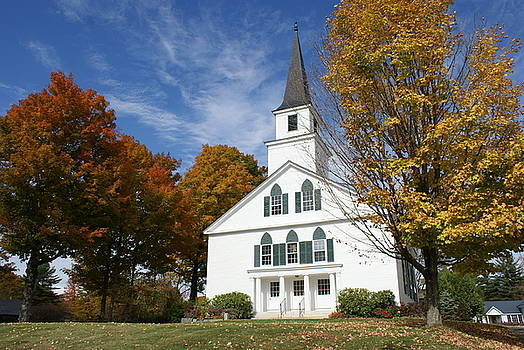 Scenic Church in Autumn by Lois Lepisto