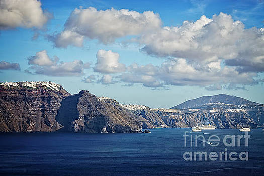 Scenic from Oia by HD Connelly