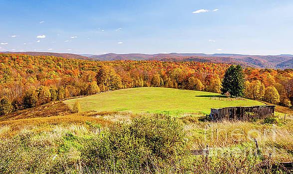 Scenic West Virginia Autumn Countryside by Kathleen K Parker