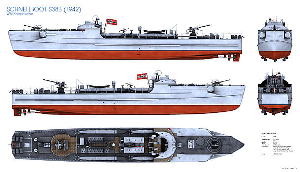 Schnellboot S38B by Carlo Cestra