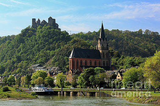 Schoenburg Castle and Liebfrauenkirche in Oberwesel Germany by Louise Heusinkveld