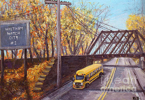 School Bus on Linden Street by Rita Brown