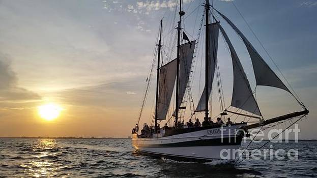 Schooner Pride sunset Charleston South Carolina by Dustin K Ryan