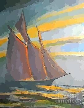 John Malone - Schooner Ship Abstraction