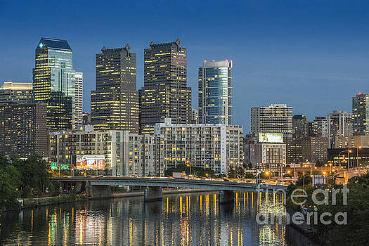 David Zanzinger - Schuylkill River Skyline Reflections 3