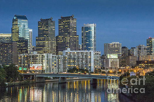 David Zanzinger - Schuylkill River Skyline Reflections 5