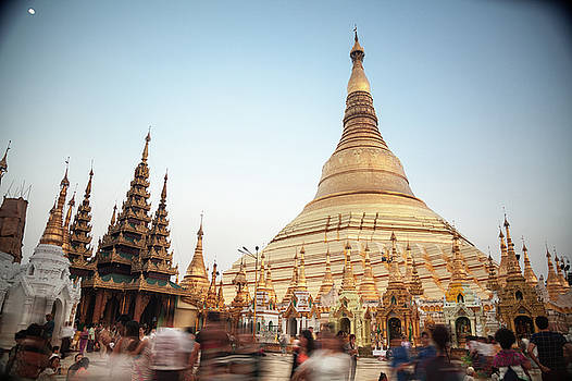 Schwedagon Pagoda I by Erika Gentry