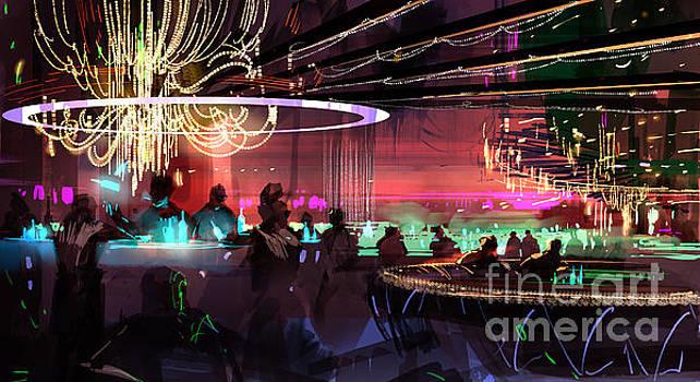 Sci-fi lounge by Tithi Luadthong