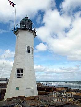 Scituate Light by Barbara Von Pagel