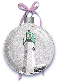 Scituate Light Ornament-A by Donna Basile