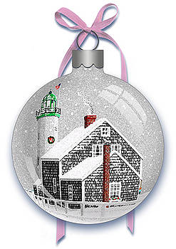 Scituate Light Ornament-B by Donna Basile