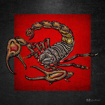 Serge Averbukh - Scorpion on Red and Black